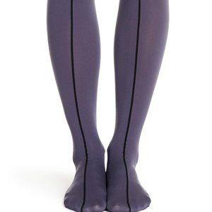 WOLFORD – Maria Opaque Stripe Tights MONUMENT-BLA